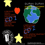 Duran Duran - Strange Behaviour Gothenburg (back cover)