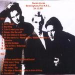 Duran Duran - Live In Birmingham (back cover)