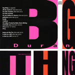 Duran Duran - Big Thing Demos (back cover)