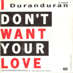 "Duran Duran - I Don´t Want Your Love 7"" (back cover)"