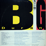 Duran Duran - Big Thing LP (back cover)