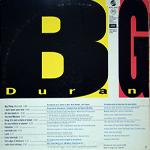 Duran Duran - Big Thing LP (back cover)