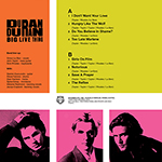 Duran Duran - Big Live Thing In Vienna LP (back cover)