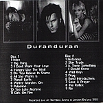 Duran Duran - Live At Wembley (back cover)