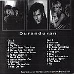 Duran Duran - Live At Wembley (back cover)