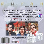 Duran Duran - Live In Manchester 89 (back cover)