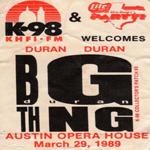 Duran Duran - Austin Opera House (cover)