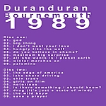 Duran Duran - Bournemouth 89 (back cover)