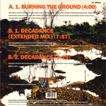 "Duran Duran - Burning The Ground 12"" (back cover)"