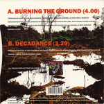 "Duran Duran - Burning The Ground 7"" (back cover)"