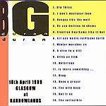 Duran Duran - Barrowlands Glasgow (back cover)