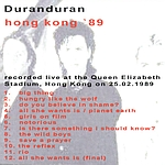 Duran Duran - Hong Kong 89 (back cover)