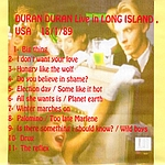 Duran Duran - Long Island 1989 (back cover)