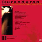 Duran Duran - Manila 1989 (2nd Night) (back cover)