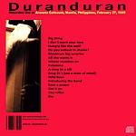 Duran Duran - Manila 1989 (back cover)