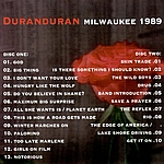 Duran Duran - Milwaukee 89 (back cover)