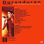 Duran Duran - Nagoya 1989 (back cover)