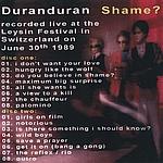 Duran Duran - Shame? (back cover)