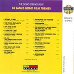 Tribute - 18 James Bond Film Themes (back cover)