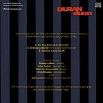 Duran Duran - Royal Albert Hall (back cover)