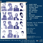 Duran Duran - Barcelona Acoustic Night (back cover)