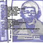 Duran Duran - Birmingham Symphony Hall (back cover)