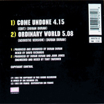 Duran Duran - Come Undone (back cover)