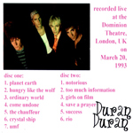 Duran Duran - Dominion Theatre (Early Show) (back cover)