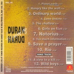 Duran Duran - Hollywood 1993 (back cover)