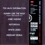 Duran Duran - Levi´s Rock Night (back cover)