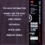 Duran Duran - Levi´s Rock Night (back cover)