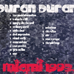 Duran Duran - Miami 1993 (back cover)