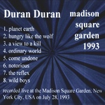 Duran Duran - Madison Square Garden (back cover)
