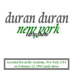 Duran Duran - New York (Early Show) (back cover)