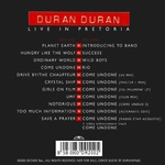 Duran Duran - Live In Pretoria (back cover)