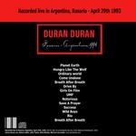 Duran Duran - Rosario Argentina 93 (back cover)