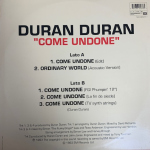 "Duran Duran - Come Undone 12"" (back cover)"
