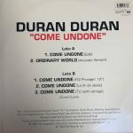 """Duran Duran - Come Undone 12"""" (back cover)"""