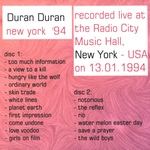 Duran Duran - Radio City Music Hall (3rd) (back cover)