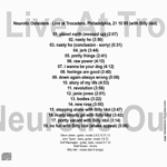Neurotic Outsiders - Live At Trocadero (back cover)