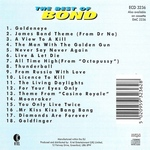 Various - The Best Of Bond (back cover)