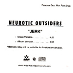 Neurotic Outsiders - Jerk (back cover)