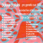 Duran Duran - Pro Genetic Cue 1997 (back cover)