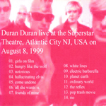 Duran Duran - Atlantic City 1999 (back cover)