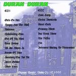 Duran Duran - Olympia Theatre Dublin (back cover)