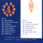 Duran Duran - Foxwoods 1999 (back cover)