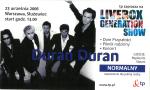 Duran Duran - Ticket - Warszawa 2006 (cover)