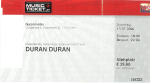 Duran Duran - Ticket - Vienna 2008 (cover)