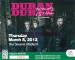 Duran Duran - Ticket - Dubai 2012 (cover)