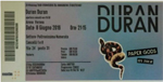 Duran Duran - Ticket - Verona 2016 (cover)